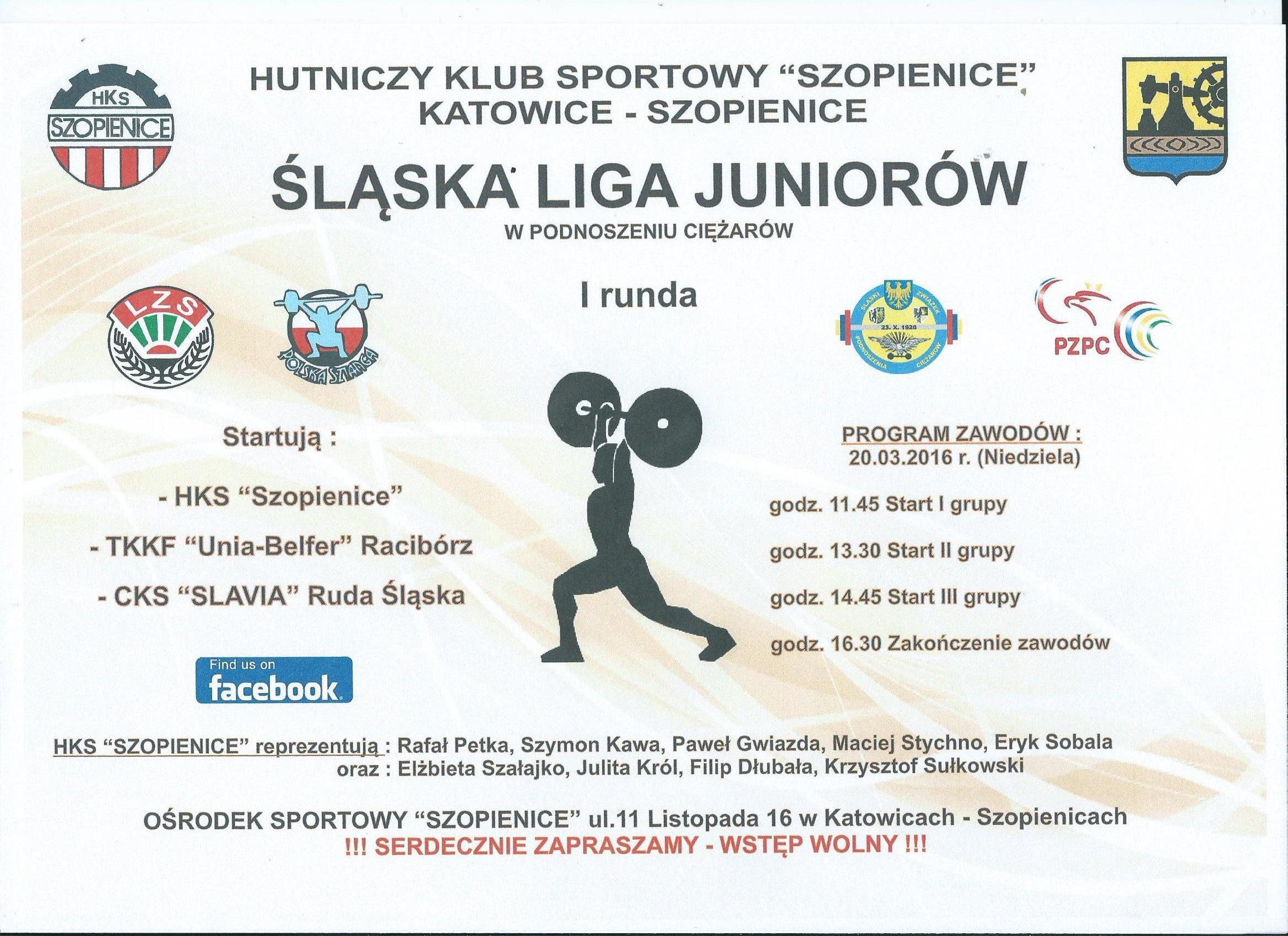 I runda ślaskiej ligi juniorów 2016